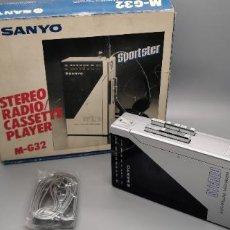 Radios antiguas: SANYO M-G 32 STEREO AM/FM STEREO CASSETTE PLAYER PERSONAL STEREO MUY BUEN ESTADO. Lote 244397970