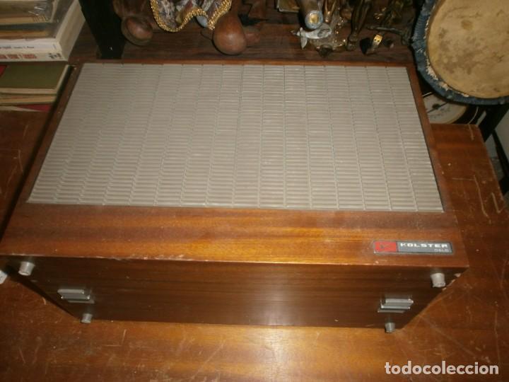 Radios antiguas: Tocadiscos kolster 1800 stereo Oslo altura 28 cm. ancho 42X20 cm. sin aguja - enciende pero no mueve - Foto 2 - 245063020