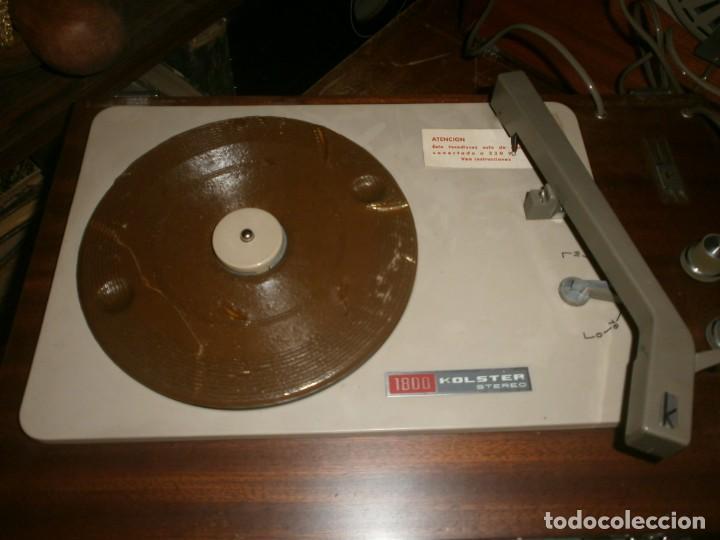Radios antiguas: Tocadiscos kolster 1800 stereo Oslo altura 28 cm. ancho 42X20 cm. sin aguja - enciende pero no mueve - Foto 6 - 245063020