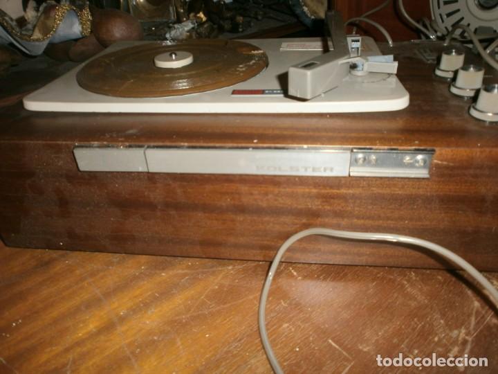 Radios antiguas: Tocadiscos kolster 1800 stereo Oslo altura 28 cm. ancho 42X20 cm. sin aguja - enciende pero no mueve - Foto 7 - 245063020