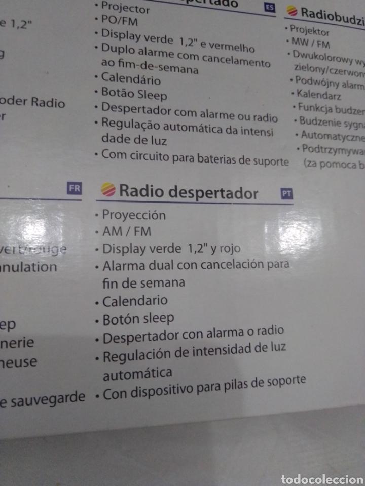 Radios antiguas: Radio despertador audio sonic con proyector nuevo en su caja - Foto 5 - 245093150