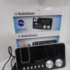 Radios antiguas: RADIO DESPERTADOR AUDIO SONIC CON PROYECTOR NUEVO EN SU CAJA. Lote 245093150