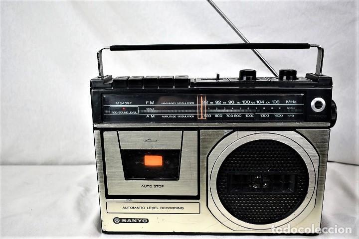 RADIO CASSETTE SANYO M-2409F AÑO 1978 (Radios, Gramófonos, Grabadoras y Otros - Transistores, Pick-ups y Otros)