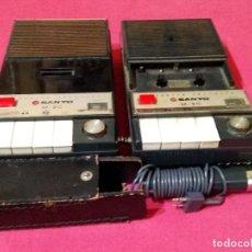 Radios antiguas: LOTE 2 MAGNETÓFONOS Y MICROFONO GRABADORES CASETE CASSETTE RECORDER MODELO SANYO M-20. Lote 245899705