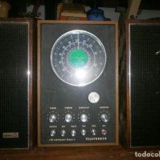 Radios antiguas: TELEFUNKEN HIFI COMPAQ 2000 X VINTAGE - ALTAVOCES PHILIPS MADERA - 26X18X18 CM. FUNCIONANDO. Lote 246131060