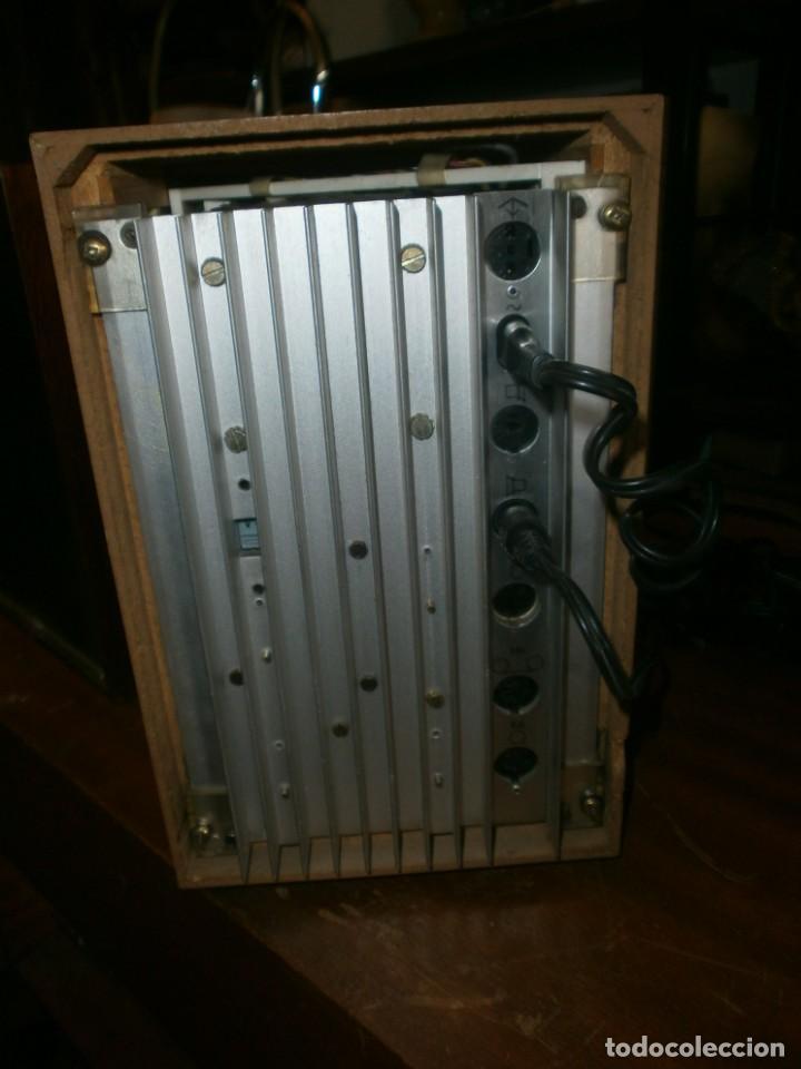 Radios antiguas: TELEFUNKEN HIFI COMPAQ 2000 X VINTAGE - ALTAVOCES PHILIPS MADERA - 26X18x18 CM. FUNCIONANDO - Foto 4 - 246131060