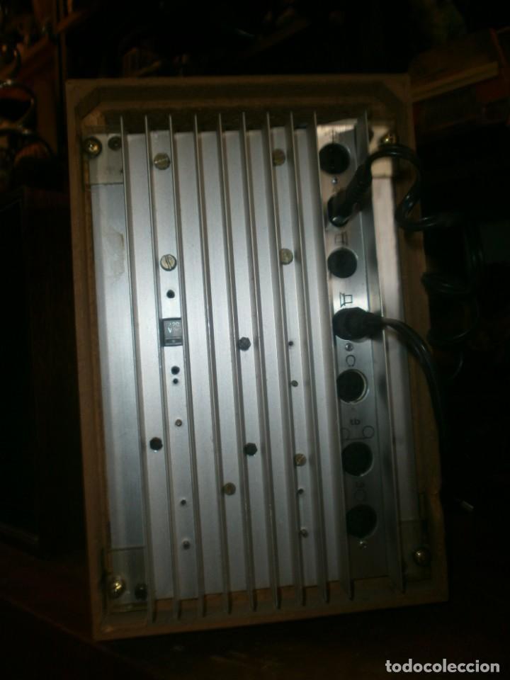 Radios antiguas: TELEFUNKEN HIFI COMPAQ 2000 X VINTAGE - ALTAVOCES PHILIPS MADERA - 26X18x18 CM. FUNCIONANDO - Foto 5 - 246131060