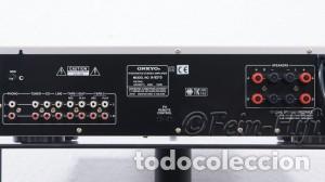 Radios antiguas: AMPLIFICADOR ONKYO R1 MODELO 9210 MADE IN JAPAN PEPETO ELECTRONICA VER VIDEO - Foto 2 - 246648685