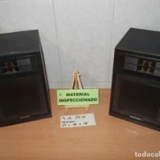 Radios antiguas: DAEWOO 2 BAFLES ALTAVOCES ESTEREO DE MADERA 4 OHM Y 25W BUEN SONIDO.. Lote 248812195