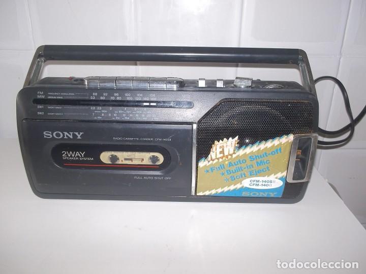 RADIO CASSETTE CASETE SONY CFM-140 S II (Radios, Gramófonos, Grabadoras y Otros - Transistores, Pick-ups y Otros)