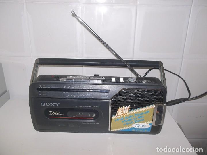 Radios antiguas: RADIO CASSETTE CASETE SONY CFM-140 S II - Foto 5 - 248813095
