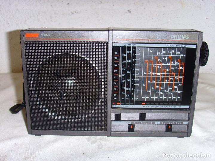 RADIO MULTIBANDAS PHILIPS COMPAS D1835 (Radios, Gramófonos, Grabadoras y Otros - Transistores, Pick-ups y Otros)