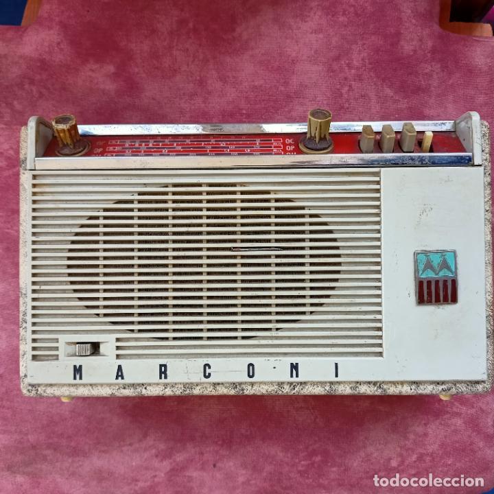 RADIO MARCONI VINTAGE (Radios, Gramófonos, Grabadoras y Otros - Transistores, Pick-ups y Otros)