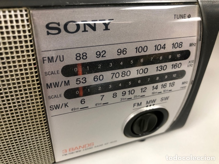 Radios antiguas: Radio Sony ICF 403S. Funciona, ver vídeo. - Foto 2 - 253370355