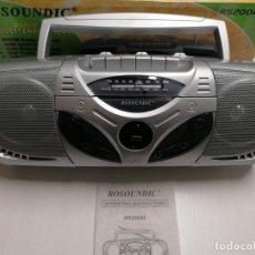 Radio antiche: RADIO CASSETTE ROSOUNDIC PORTABLE AUDIO SYSTEM COMPLETAMENTE NUEVO.. Lote 253716445