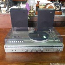 Radios antiguas: RADIO TOCADISCOS CASSETTE PHILIPS STEREO MUSIC CENTER 1410 CON ALTAVOCES. Lote 254212805