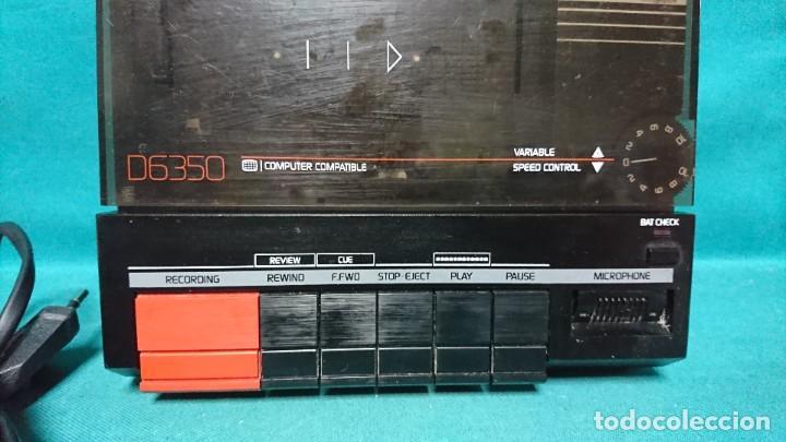 Radios antiguas: CASETE PORTÁTIL GRABADOR PHILIPS D6350, FUNCIONANDO - Foto 2 - 254308555