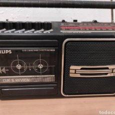 Radios antiguas: RADIO CASSETTE PHILIPS, FABRICADO AÑO 1986 FUNCIONA CORRECTAMENTE. Lote 254400230