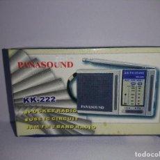 Radios antiguas: RADIO TRANSISTOR PANASOUND KK 222. Lote 254743000