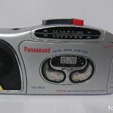 Radios antiguas: RADIO CASSETTE PANASOUND KS903. Lote 254796155