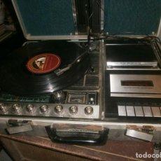Radios antiguas: SANYO STEREO MUSIC CENTER MALETA CON DOS ALTAVOCES, RADIO, CASSETTE, TOCADISCOS, CARTUCHO 4 PISTAS -. Lote 254969725