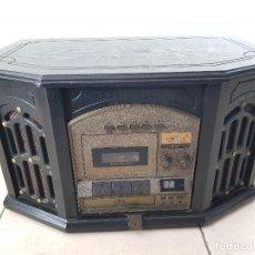 Radios antiguas: EQUIPO DE MÚSICA MODEL: MSE-800 ASPECTO AÑOS 40'S, CON RADIO, CD, VINILO Y CASSETTE. Lote 255997230