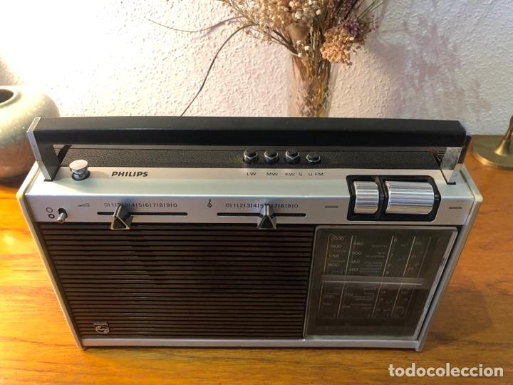 Radios antiguas: Radio philiphs vintage años 70 - Foto 7 - 257815705
