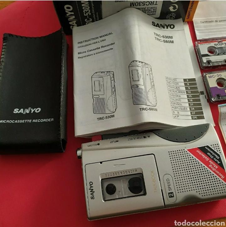 Radios antiguas: Sanyo TRC-530M Grabadora de voz Microcasete - Foto 2 - 259209635
