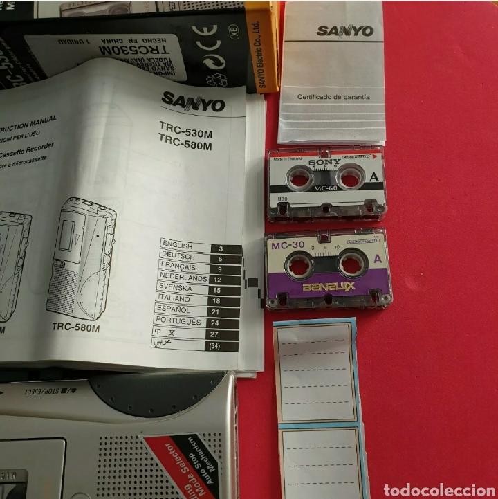 Radios antiguas: Sanyo TRC-530M Grabadora de voz Microcasete - Foto 3 - 259209635