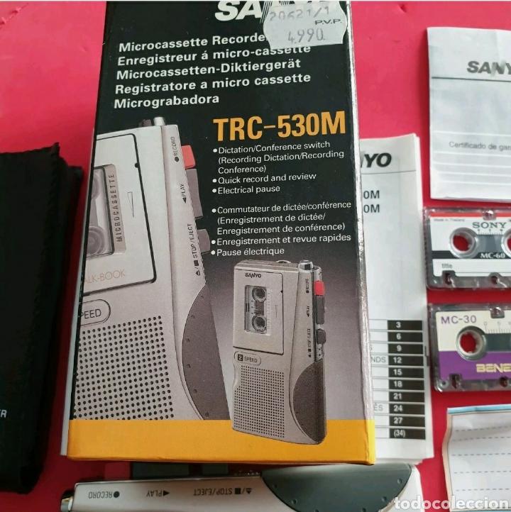Radios antiguas: Sanyo TRC-530M Grabadora de voz Microcasete - Foto 4 - 259209635