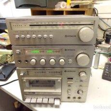 Rádios antigos: GRUPO RADIO CASSETTE AMPLIFICADOR HITACHI SE ENCIENDE A REPARAR O REPASAR. Lote 260809790