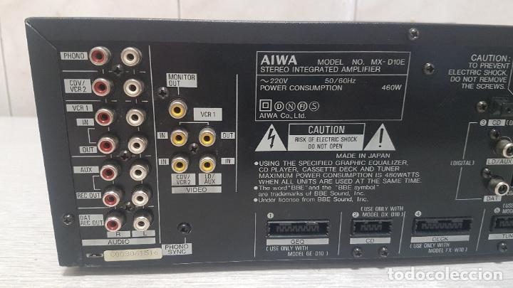 Radios antiguas: AMPLIFICADOR AIWA MX-D10 - Foto 9 - 262905075