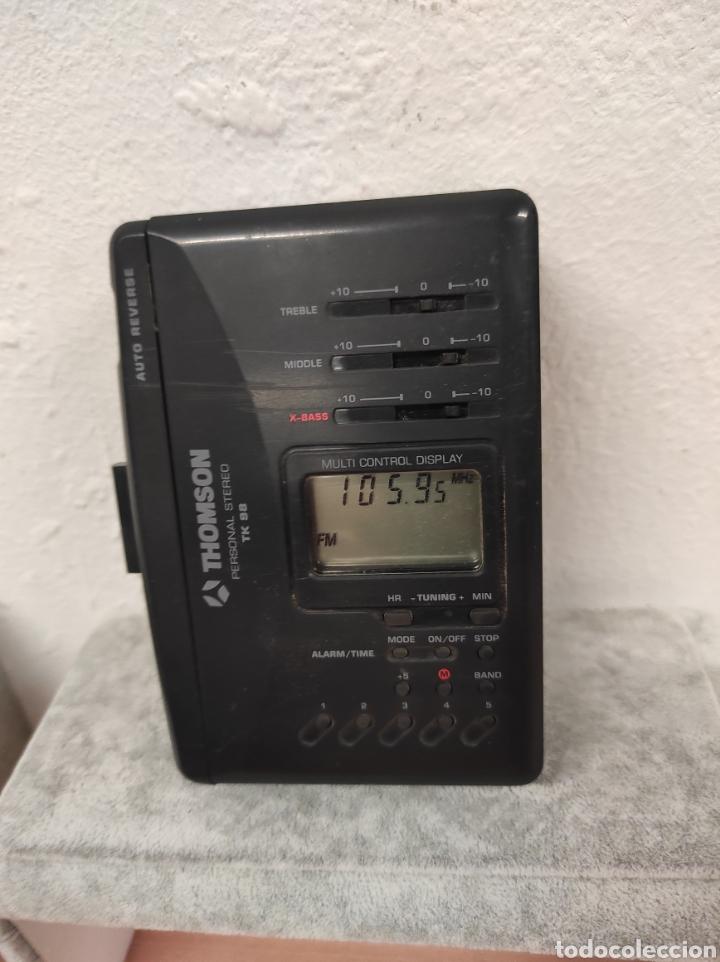 THOMSON PERSONAL STEREO CASSETTE TK 98 AUTO REVERSE MULTI CONTROL DISPLAY RADIO FM (Radios, Gramófonos, Grabadoras y Otros - Transistores, Pick-ups y Otros)