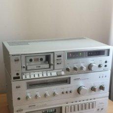 Radio antiche: EQUIPO MUSICA HIFI COMPLETO VANGUARD ( HITACHI) AMPLIFICADOR VANGUARD AE-4500 TE-500 DE-75. Lote 263935300
