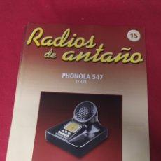 Radios antiguas: RADIO DE ANTAÑO PHONOLA 547 AÑO 1939. Lote 264806394