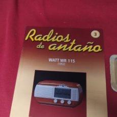 Radios antiguas: RADIO DE ANTAÑO WATT WR 115 AÑO 1952. Lote 264807209