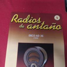 Radios antiguas: RADIO DE ANTAÑO ELLO AD AÑO 1936. Lote 264808019
