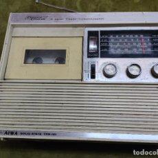 Radios antiguas: RARO AIWA SOLID STATE TPR-101 A COMPACT CASSETTE 4 BAND RADIO TONBANDGERAT TRANSISTOR JAPON. Lote 266019678