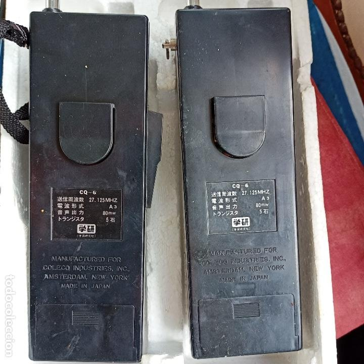 Radios antiguas: PAREJA DE WALKIE TALKIE RADIO GAKKEN CQ6 CAJA ORIGINAL SOLID STATE AÑOS 70 MADE IN JAPAN - Foto 5 - 267736409