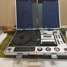 Radios antiguas: MALETIN CENTRO MUSICAL TOCADISCOS SUNNY-VOX-6000 ( MADE IN JAPAN ),VINTAGE , FUNCIONA. Lote 268122044