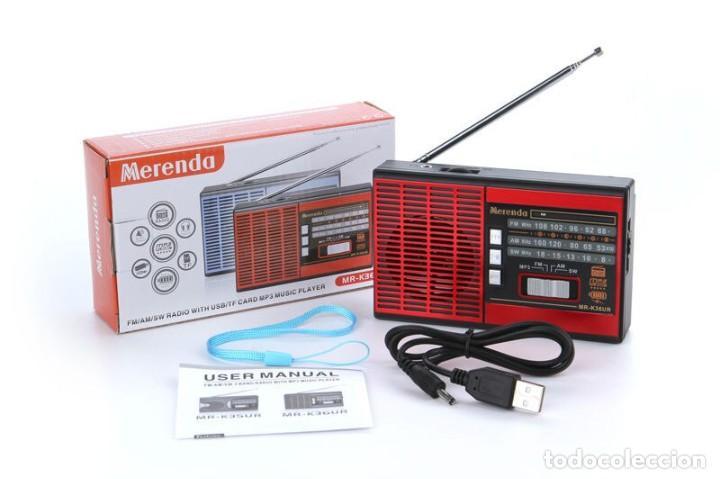 RADIO 3 BANDAS ALTAVOZ USB TF - NUEVO (Radios, Gramófonos, Grabadoras y Otros - Transistores, Pick-ups y Otros)