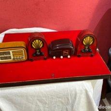 Radios antiguas: LOTE DE 4 RADIOS COLECCIÓN RADIOS DE ANTAÑO. Lote 268968024