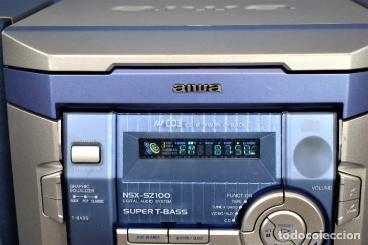 Radios antiguas: Mini cadena Aiwa NSX-SZ100 - Foto 2 - 269028834