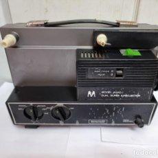 Radios antiguas: PROYECTOR DUAL SUPER 8 MODELO 808D. TIENE LAS PEGATINAS DE NUEVO. Lote 269834393
