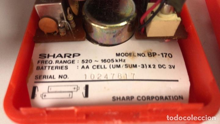 Radios antiguas: Radio Transistor Sharp BP-170, funciona, ver vídeo. - Foto 7 - 271611003
