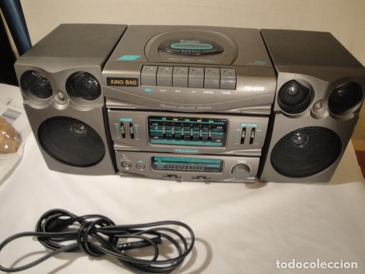 MINI CADENA MÚSICA. MARCA: XING BAO. MODELO: TD-613. FINALES DE LOS 80. (Radios, Gramófonos, Grabadoras y Otros - Transistores, Pick-ups y Otros)