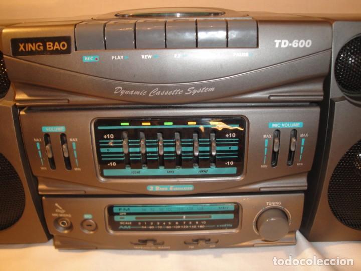 Radios antiguas: MINI CADENA MÚSICA. Marca: Xing Bao. Modelo: TD-613. Finales de los 80. - Foto 4 - 271668778