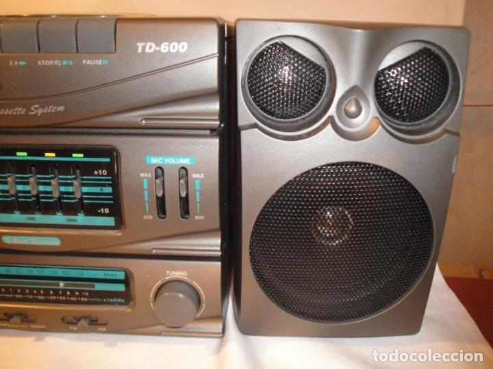 Radios antiguas: MINI CADENA MÚSICA. Marca: Xing Bao. Modelo: TD-613. Finales de los 80. - Foto 5 - 271668778