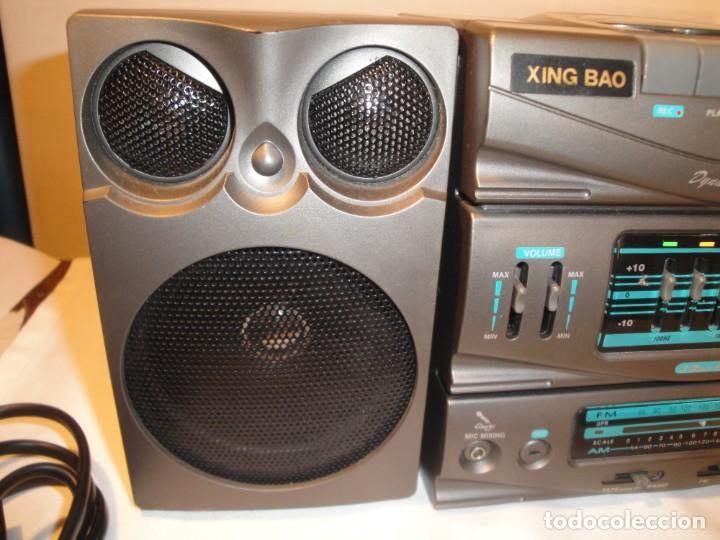 Radios antiguas: MINI CADENA MÚSICA. Marca: Xing Bao. Modelo: TD-613. Finales de los 80. - Foto 6 - 271668778