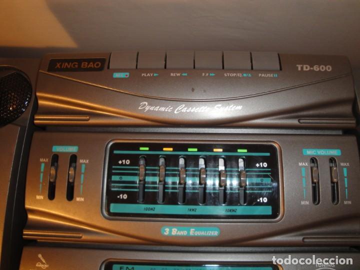 Radios antiguas: MINI CADENA MÚSICA. Marca: Xing Bao. Modelo: TD-613. Finales de los 80. - Foto 9 - 271668778